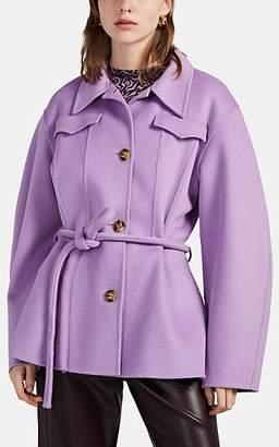Nanushka Women's Adut Melton Western Jacket - Purple