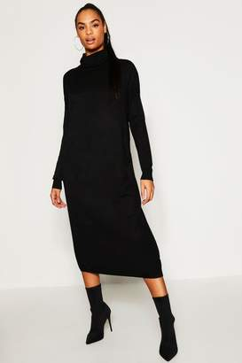 boohoo Tall Roll Neck Knitted Dress