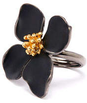 Oscar de la Renta Painted Flower Ring