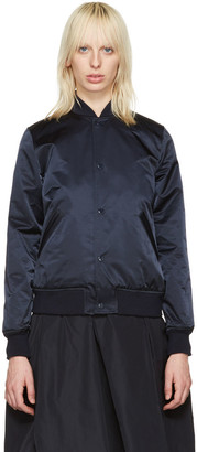 A.P.C. Navy Avengers Bomber Jacket $425 thestylecure.com