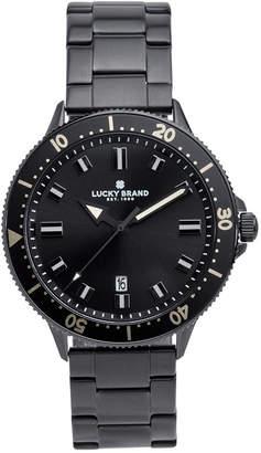 Lucky Brand Men's Dillon Black Stainless Steel Bracelet Watch 42mm