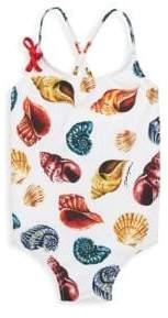 Dolce & Gabbana Little Girl's& Girl's One-Piece Seashells Swimsuit