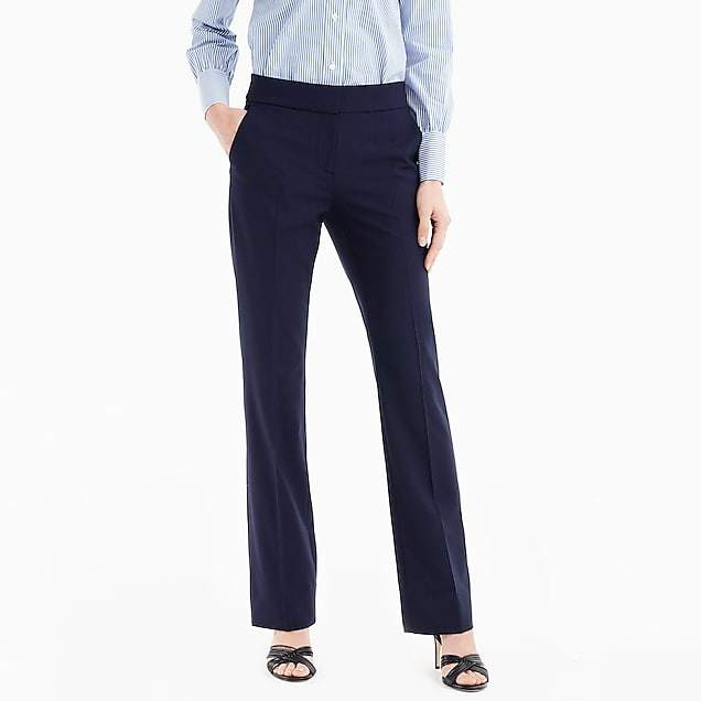 Edie full-length lined trouser in stretch wool