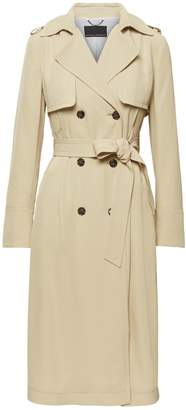 Banana Republic Soft Pleated Long Trench