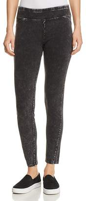 Andrew Marc Performance Knit Denim-Look Leggings