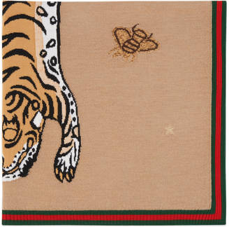 Knit tiger baby blanket $455 thestylecure.com