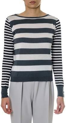 Max Mara Striped Silk And Cachemire Sweater