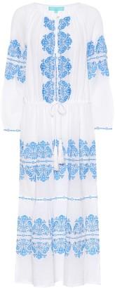 Melissa Odabash Lillie embroidered cotton dress