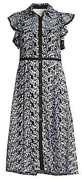 Nanette Lepore Women's Embroidered Floral Ruffled Dress