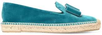 Salvatore Ferragamo 10mm Sannio Velvet Loafer Espadrilles