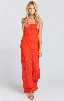 MUMU Harlowe Maxi Dress ~ Mademoiselle Lace Tequila Sun