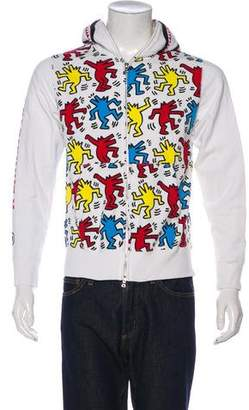A Bathing Ape 2018 Keith Haring Shark Full-Zip Hoodie