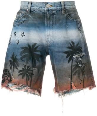 Amiri palm-print shorts
