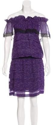 Thakoon Silk Off-The-Shoulder Dress