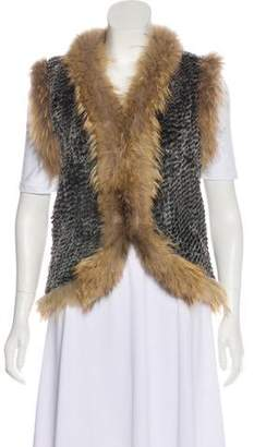 Saks Fifth Avenue Fur Knit Vest