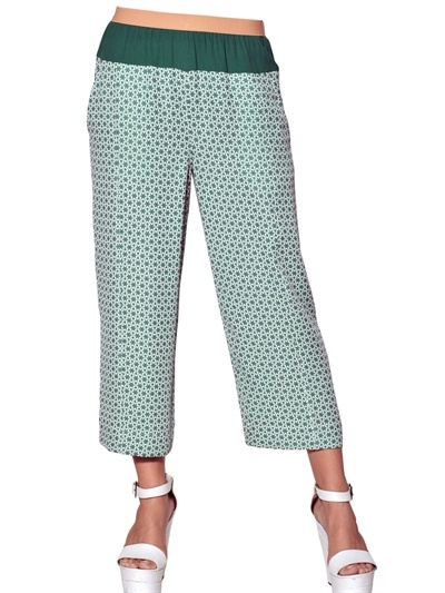 Antonio Marras Jacquard Viscose Cady Cropped Trousers