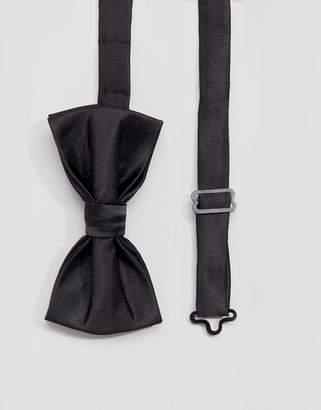 Devils Advocate Black Satin Bow Tie