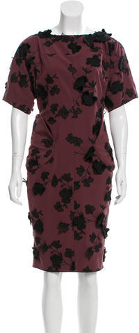 Marc Jacobs Marc Jacobs Floral Appliqué Midi Dress