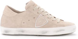 Philippe Model Paris Nude Pink Suede Sneaker.