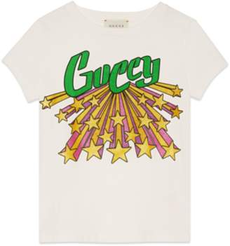 Gucci Children's T-shirt with Guccy star print