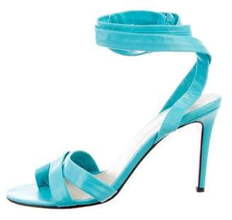 Christian Louboutin Lace-Up Leather Sandals