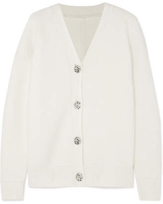 Victoria Beckham Victoria, Reversible Ribbed-knit Sweater - Ivory