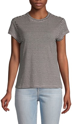 Frame Striped Short-Sleeve Linen Tee