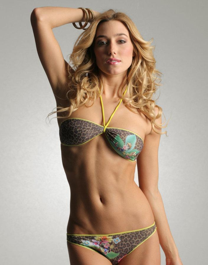Pinko Leopard Bandeau Bikini