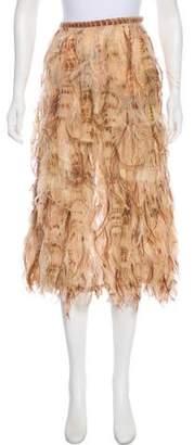 Michael Kors Feather Midi Skirt