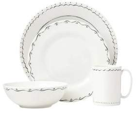 Kate Spade Union Square Doodle Four-Piece Dinnerware Set