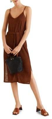 MANGO Belted Midi Dress