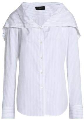 Theory Pinstriped Cotton-Popln Shirt