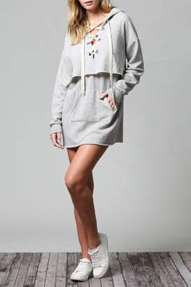 Fate Lace-Up Hoodie Dress