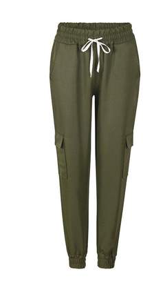 Billila Women High Waist Sports Cargo Pants Outdoor Casual Trousers Pants (M, )