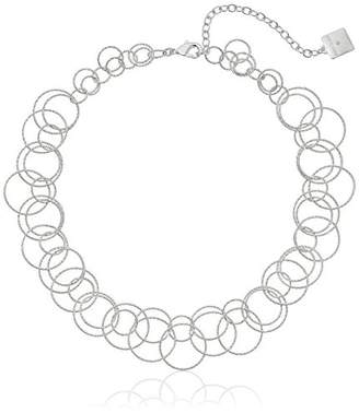 "Anne Klein Circle Around"" -Tone Open Link Necklace"
