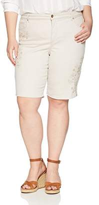 Bandolino Women's Plus Size Mandie 5 Pocket Denim Bermuda Short