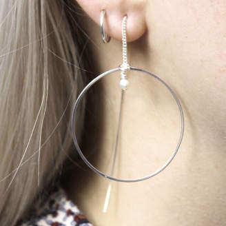 784b5e838 Silver Pull Through Earrings - ShopStyle UK