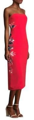 Tanya Taylor Meredith Satin Crepe Dress