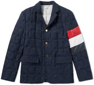 Thom Browne Down Harris Tweed Blazer