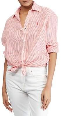 Polo Ralph Lauren Relaxed Striped Linen Button-Down Shirt