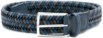 Canali woven buckled belt