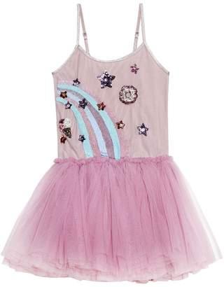 TUTU DU MONDE - Youth Girl's Rainbow Swirl Dress Bubblegum