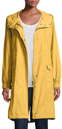 Eileen Fisher Hooded Long Anorak Jacket, Plus Size $338 thestylecure.com