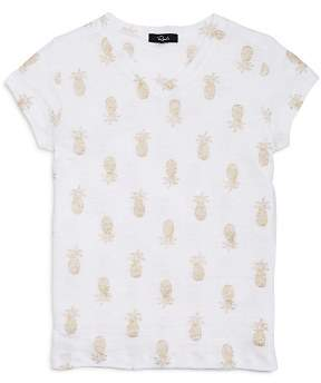 Rails Girls' Carlyn Glitter-Pineapple-Print Tee - Big Kid