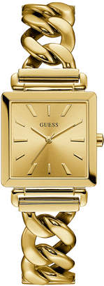 GUESS Women's Gold-Tone Stainless Steel Chain Bracelet Watch 28x28mm
