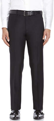 American Designer Black Slim Fit Wool Suit Pants