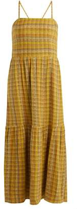 Ace&Jig Dusty Striped Cotton Blend Dress - Womens - Yellow