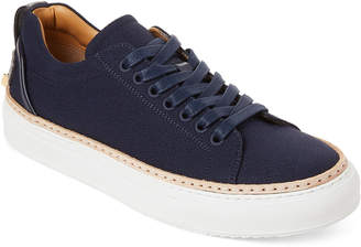 Buscemi Navy Lyndon Crepe Low-Top Sneakers