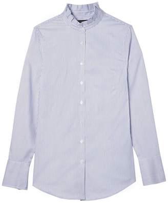 Banana Republic Riley Tailored-Fit Stripe Ruffle-Collar Shirt