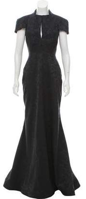 Zac Posen Jacquard Evening Gown